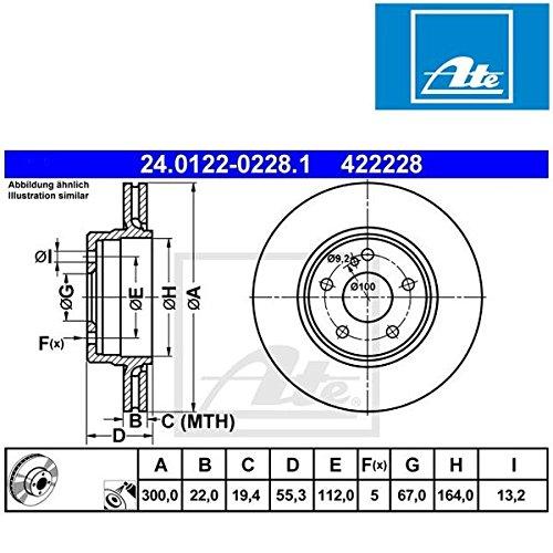 ATE 24012202281 Frein à disque