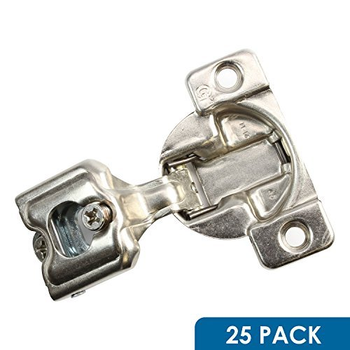 Gras Cabinet Hardware (25Stück ROK Hardware Gras Tec 864108Grad 2,5cm Overlay 3Level selbst Schließen Schraube auf Compact Schrank Scharnier 04401-153-Wege-Anpassung 45mm langweilig Muster)