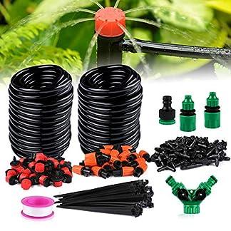 Xddias Sistema de Riego por Goteo, 30m Automático Riego Manguera, Micro Kit de Goteo para Riego Jardín con Goteros Ajustables