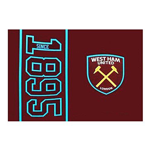 Offizielles Fußball Team seit Datum of Establishment 5ft x 3ft Körper Flagge (wählen Sie Ihr Club.), West Ham United FC