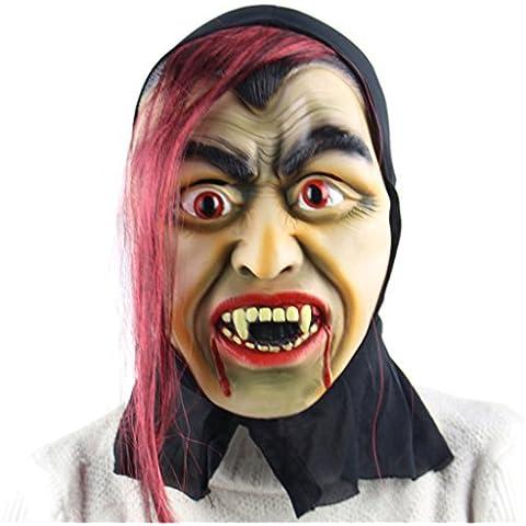 Jiayiqi Noche Horrible Zombi De Tricky Máscara Roja Pelo Máscara Para La Diversión