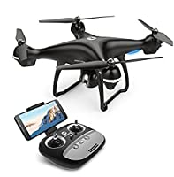 Holy Stone WIFI FPV Version HS100 GPS Drone with Camera Live Video and GPS Return Home Quadcopter with Adjustable Wide-Angle 720P HD WIFI Camera- Altitude Hold, Intelligent Battery Long Control Range by Holy Stone