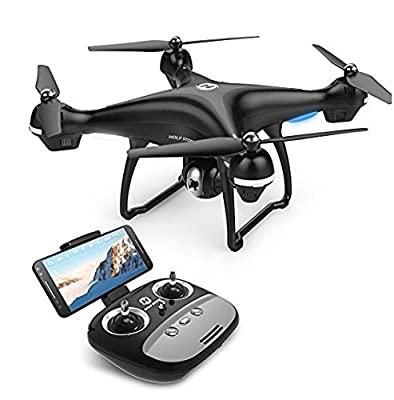 Holy Stone WIFI FPV Version HS100 GPS Drone with Camera Live Video and GPS Return Home Quadcopter with Adjustable Wide-Angle 720P HD WIFI Camera- Altitude Hold, Intelligent Battery Long Control Range from Holy Stone