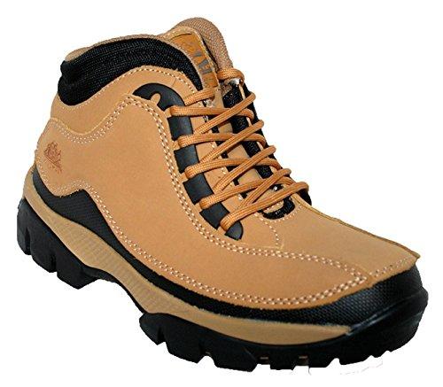 Groundwork Damen-Arbeits-Schuhe mit Stahlkappe, knöchelhoch, Obermaterial Leder, GR386 Honig