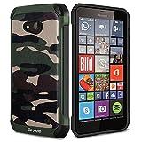 Epxee Microsoft Lumia 640 Hülle, Silikon Handyhülle Schwarz TPU Bumper Cover Schutzhülle für Microsoft Lumia 640 Case - Camouflage