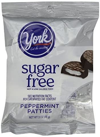 York Peppermint Patties, Sugar Free, 3-Ounce Packages (Pack of 12) by York [Foods] (York Peppermint Patties)