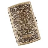Sharplace Portable Etui à Cigarettes en Métal Vintage Boîte de Rangement de 20pcs...