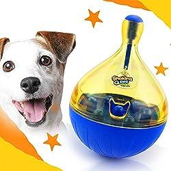 K&C-Treat perro de mascota lenta alimentación de bola interactiva IQ dental trate de juguetes para el entrenamiento del perro grande