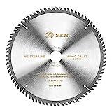 S&R Lama per Sega Circolare 254. Disco Smerigliatrice Taglio Legno Professionale (254 x 30 x 2,4mm 80 Denti)