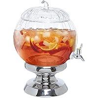 Decorative Clear Glass Pumpkin Shaped Bowl Beverage Dispenser / Drink