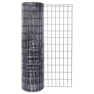 GAH-Alberts 604899 Schweißgitter Fix-Clip Pro®, anthrazit-metallic, 1200 mm Höhe, 25 m Rolle, Drahtstärke: 2,2 / 2,2 mm, Maschenweite: 50 x 100 mm