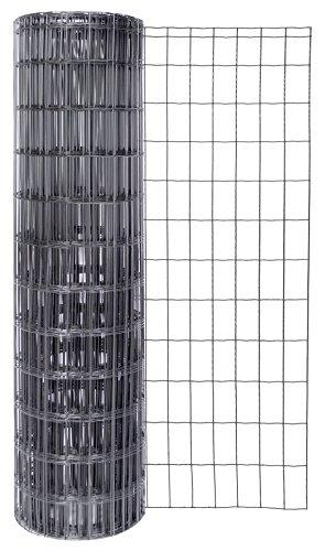 GAH-Alberts 604882 Schweißgitter Fix-Clip Pro®, anthrazit-metallic, 1040 mm Höhe, 25 m Rolle, Drahtstärke: 2,2 / 2,2 mm, Maschenweite: 50 x 100 mm