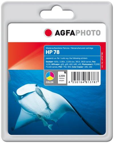 Preisvergleich Produktbild AgfaPhoto Tintenpatrone mehrfarbig kompatibel zu HP78 (C6578AE) geeignet für HP Deskjet 940 C, 916c, 920c, 930c/cm, 932c, 935c, 950c, 952c, 959c, 960c, 970cse/cxi