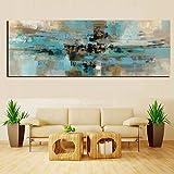 XIAOXINYUAN HD-Print Leinwand Gemälde Hellblau Landschaft Abstraktes Ölgemälde auf Leinwand Wand Kunst Schlafzimmer Wohnzimmer Sofa Home Decoration 50 X 150 cm Ohne Rahmen