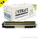 MWT Toner Cartridge für I-Sensys LBP7010c , LBP7018c ersetzen Canon gelbe CRG 729 Patronen - deutsche Qualität von MWT - kein Original