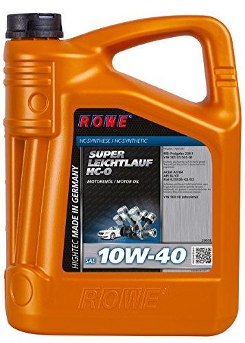 ROWE Hightec Super Leichtlauf 10W-40 HC-O - 5 Liter PKW Motoröl, vollsynthetisch (HC-Synthese)   Made in Germany