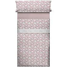 Hello Kitty 35389 - Juego de sábanas para cama de 105 cm, diseño Angels, color rosa
