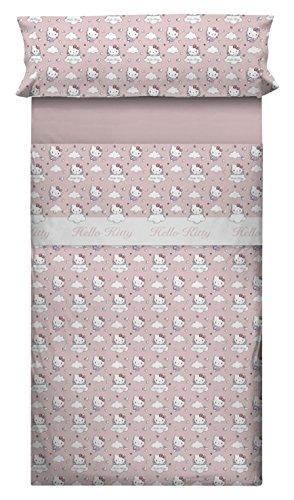 Hello Kitty 35389 - Juego de sábanas para cama de 90 cm, diseño Angels, color rosa