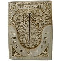 CATART Reloj DE Sol EN Piedra Pared Exterior Tempus FUGIT 60X80cm.