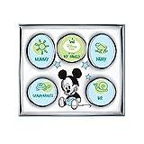 Disney Baby - Topolino Mickey Mouse - Cornice Portafoto My First Year/My Family a 5 fori in Argento perfetta come regalo nascita neonato o compleanno primo anno bambino