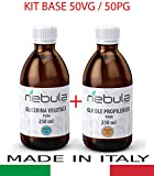KIT BASE NEUTRA 500 ML - GLICOLE PROPILENICO + GLICERINA VEGETALE 50VG/50PG