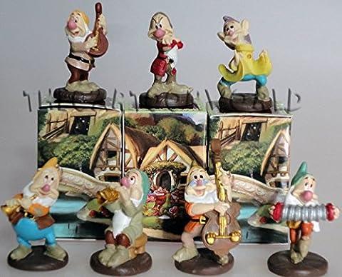 Bonboniere 7Zwerge Disney Kunstharz Figur Sieben Zwerge cm. 4–h114400