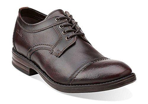 Clarks Delsin Limit Tan Leath Men's Business Leather Shoes Brown, Pointure:EUR 40