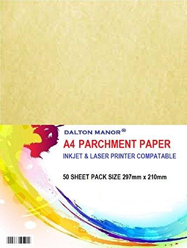 Confezione da 50fogli a4di carta pergamena da 90gr/m2, certificato di alta qualità
