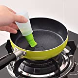 Okayji Silicone Cooking Oil Bottle with Basting Brush (Assorted)
