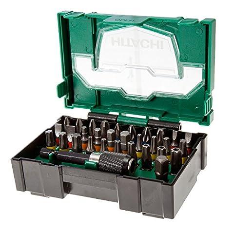 Hitachi Lot de 32embouts, Hitachi Embouts de tournevis, Hitachi Foret pilote Bit Set