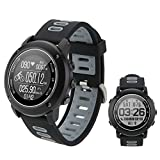 flower 205 UW90 Smart Watch GPS Sports de plein air Étanche Smart Watch Surveillance de la fréquence cardiaque Bluetooth 4.2 GPS Boussole IP68 Deep étanche Montre Smart Watch de soutien (A)