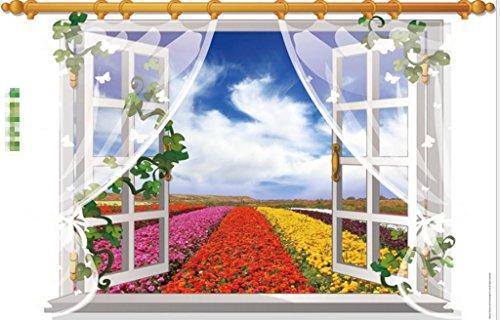 GYMNLJY Wand-Sticker 3D Fenster Screening Landschaft Wand Aufkleber Umweltschutz abnehmbare Wand Aufkleber Home Decor Wandtattoo , - Halloween-screenings