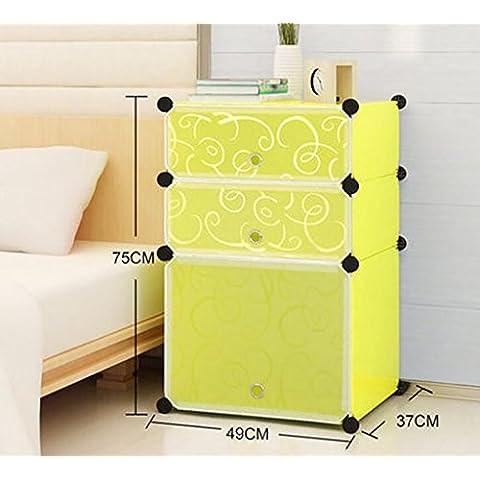 XWG Mensole di deposito semplice comodino creativa moderna Cabinet Mini
