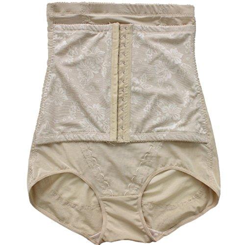 iEFiEL Damen Taille Training Miederhose mit Bauchweg-Effekt Cincher Korsett Body Shaper Unterwäsche Mieder Taillenmieder Nackt