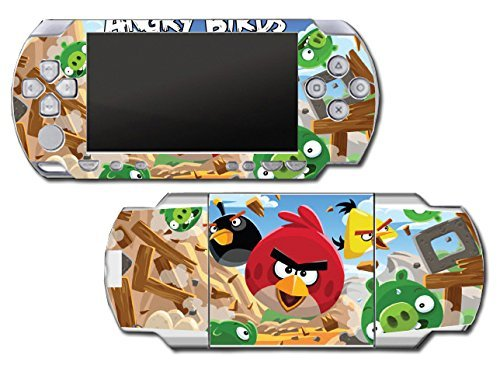 Angry Birds Red Chuck Bomb Pig Video Game Vinyl Decal Skin Sticker Cover for Sony PSP Playstation Portable Original Fat 1000 Series System by Vinyl Skin Designs Angry Birds Psp