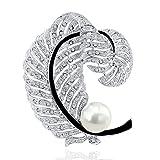 PLATO H Bijoux Broche Pour Femme avec Cristaux Swarovski Perles Broches Autriche Cristal Mariage Fantaisie Anniversaire Cadeau