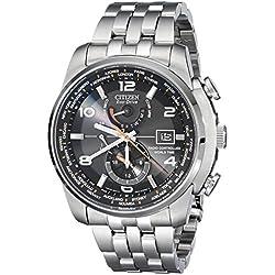 Citizen AT9010-52E - Reloj para hombres, correa de acero inoxidable plateada