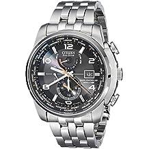 Citizen AT9010-52E - Reloj para hombres, correa de acero inoxidable color plateado