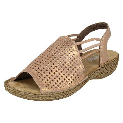Rieker Damen Pantoffeln, Pink - Rosa (Pink) - Größe: 40 EU