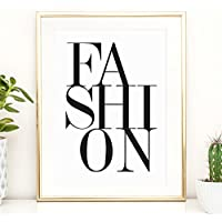 Kunstdruck, Sprüche Poster: Fashion | Hochwertiges und festes Premiumpapier | Ohne Rahmen