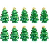 Amosfun 10 unids Resina Adornos para árboles de Navidad Decoraciones en Miniatura para los artesanía jardín terrarios suculentos decoración de Cactus Amigos