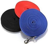 Laisse pour Chien Longue Corde 10M/15M Laisse de Dressage pour Chiot Collier Harnais Réglable Nylon Haute Résistance
