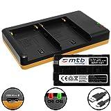 Batería (7800mAh) + Cargador Doble (USB) NP-F960, F970 para Sony videocámaras | Neewer LED luz de vídeo | ATOMOS Shogun, Ninja… y mas - Ver Lista de compatibilidad