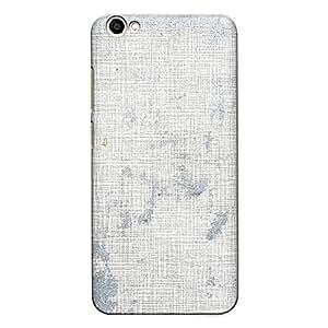 DASM United Vivo V5 Lite Premium Back Case Cover - Silver Painted Board