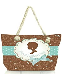 Snoogg Mothers Day Card Cute Vintage Frames With Ladies Silhouettes Women Anchor Messenger Handbag Shoulder Bag...