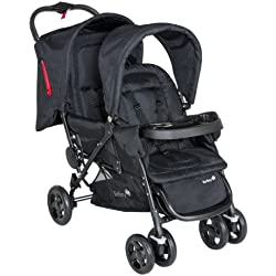 Safety 1st 11487640–Carrito duodeal para hermanos o gemelos, color negro