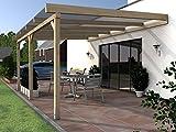 Terrassenüberdachung RÜGEN I Wintergarten 500 x 400 cm Überdachung Terrasse
