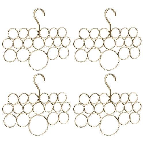 InterDesign Axis 18Schalhalter in Kreisdesign 4er-Set Set of 4 Champagner Perle