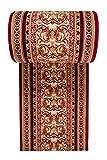 WE LOVE RUGS CARPETO Läufer Teppich Flur in Rot - Orientalisch Muster - Kurzflor Teppichlaufer Verona Kollektion 60 x 250 cm