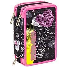 ebfde97622 ASTUCCIO scuola SEVEN - HEART GIRL - 3 scomparti - pennarelli matite gomma  ecc.